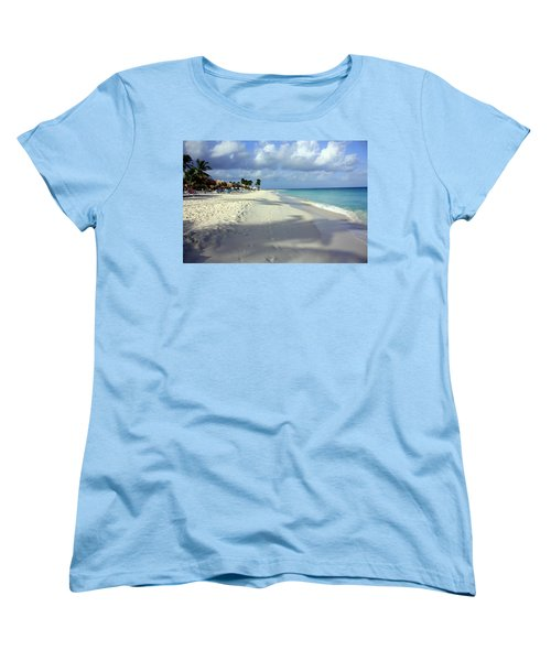 Eagle Beach Aruba Women's T-Shirt (Standard Cut) by Suzanne Stout