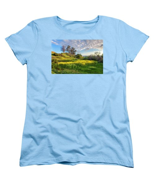 Women's T-Shirt (Standard Cut) featuring the photograph Eagle Grove At Lake Casitas In Ventura County, California by John A Rodriguez