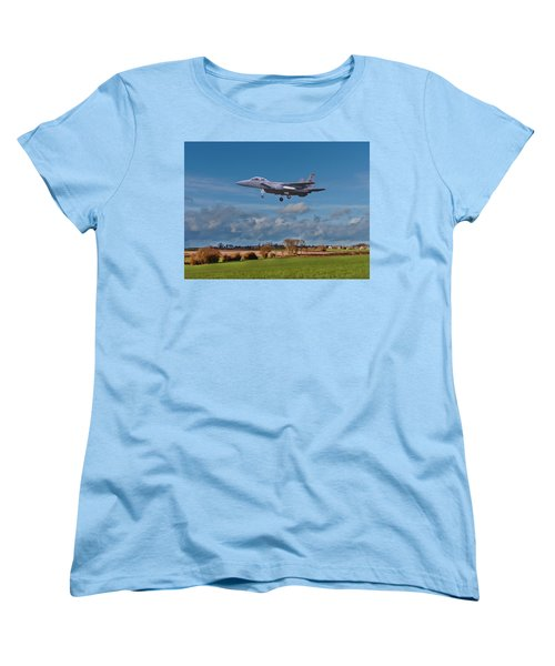 Women's T-Shirt (Standard Cut) featuring the photograph Eagle On Finals by Paul Gulliver