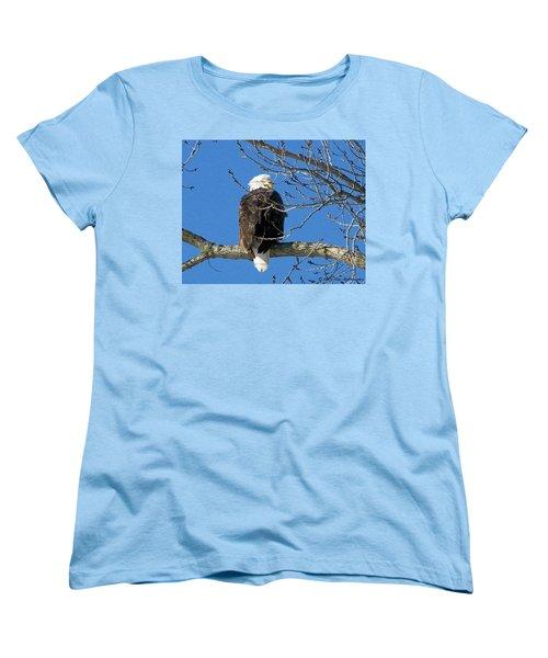 Eagle Watch Women's T-Shirt (Standard Cut) by Sue Stefanowicz