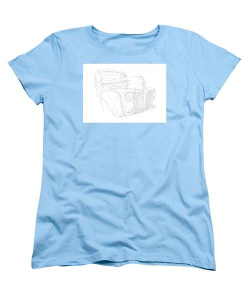 Early Ford Truck Women's T-Shirt (Standard Cut) by Jeffrey Jensen