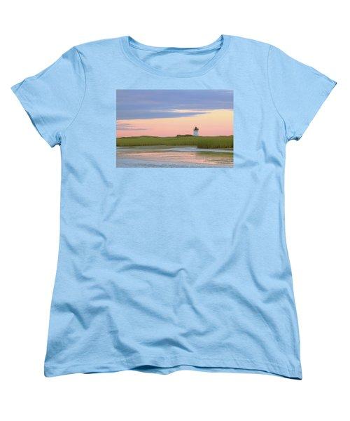 Women's T-Shirt (Standard Cut) featuring the photograph Early Light At Wood End Light by Roupen  Baker