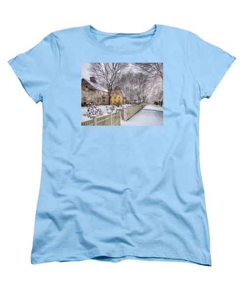 Early Massachusetts Women's T-Shirt (Standard Cut) by Betsy Zimmerli