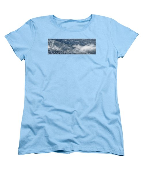 Women's T-Shirt (Standard Cut) featuring the photograph Early Morning After A Snowfall by Sebastien Coursol