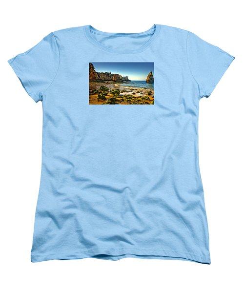 Women's T-Shirt (Standard Cut) featuring the photograph Early Morning Alvor Beach by Brian Tarr