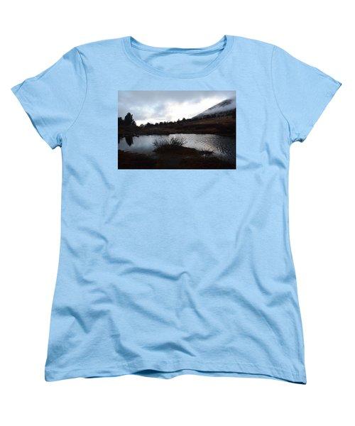 Women's T-Shirt (Standard Cut) featuring the photograph Early Morning At Favre Lake by Jenessa Rahn
