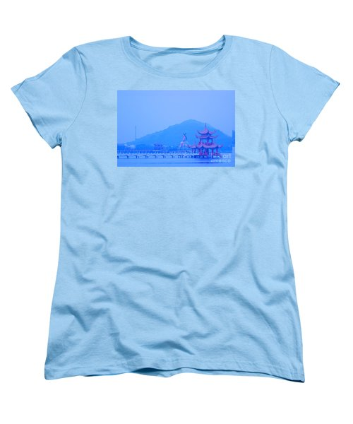 Early Morning At The Lotus Lake Women's T-Shirt (Standard Cut) by Yali Shi
