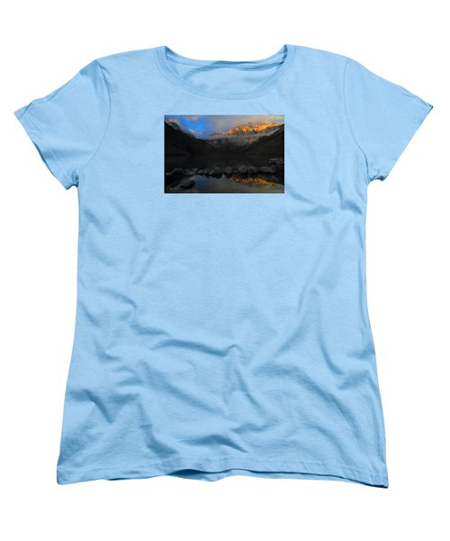 Early Morning Light At Convict Lake In The Eastern Sierras Women's T-Shirt (Standard Cut) by Jetson Nguyen
