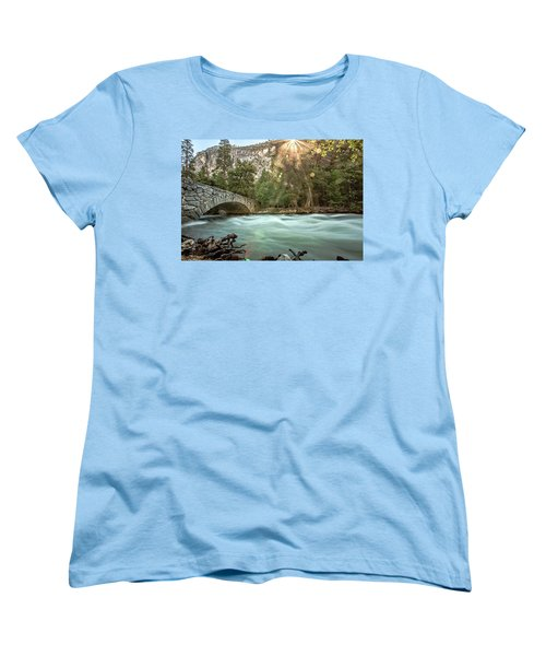 Early Morning On The Merced River Women's T-Shirt (Standard Cut) by Ryan Weddle
