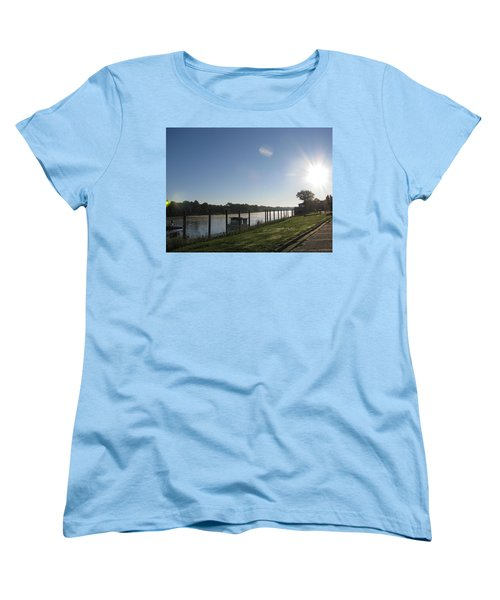 Early Morning On The Savannah River Women's T-Shirt (Standard Cut) by Donna Brown