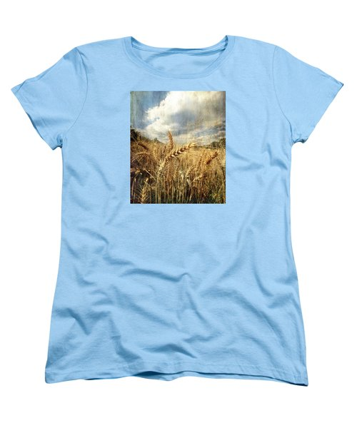 Ears Of Corn Women's T-Shirt (Standard Cut) by Vittorio Chiampan