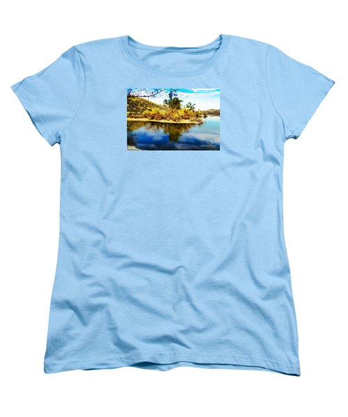 Women's T-Shirt (Standard Cut) featuring the photograph East Bay, Canyon Lake, Ca by Rhonda Strickland