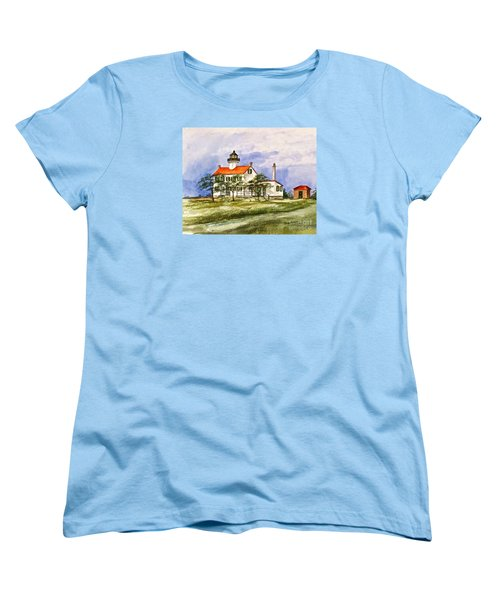 East Point Lighthouse Glory Days  Women's T-Shirt (Standard Cut) by Nancy Patterson