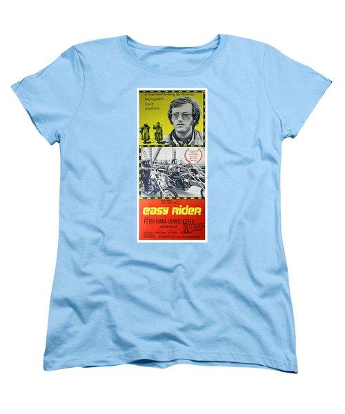 Easy Rider Movie Lobby Poster  1969 Women's T-Shirt (Standard Cut) by Daniel Hagerman