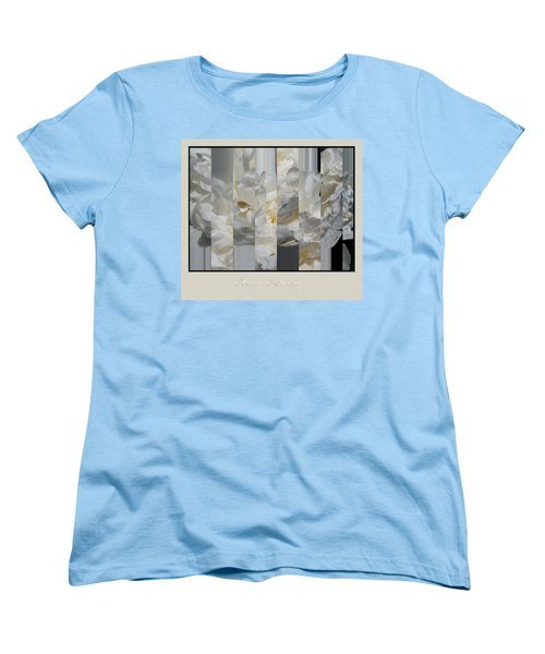 Ebony And Ivory Peony Women's T-Shirt (Standard Cut) by Brooks Garten Hauschild