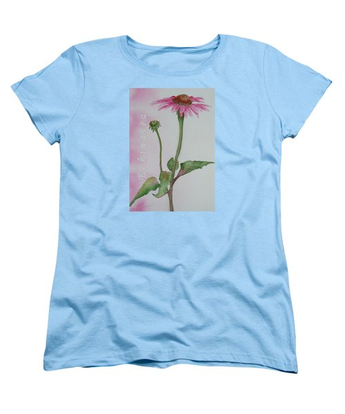Echinacea Women's T-Shirt (Standard Cut) by Ruth Kamenev