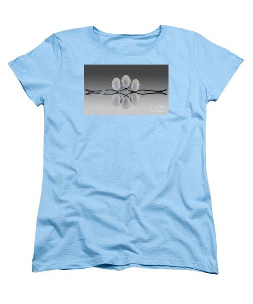 Egg Balance Women's T-Shirt (Standard Cut) by Shirley Mangini