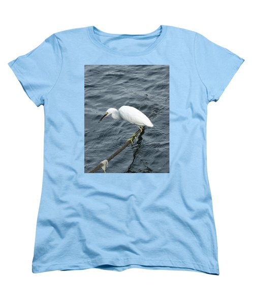 Women's T-Shirt (Standard Cut) featuring the photograph Egret On The Munch by Margie Avellino