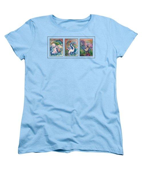 Egret Series Women's T-Shirt (Standard Cut) by Robin Monroe