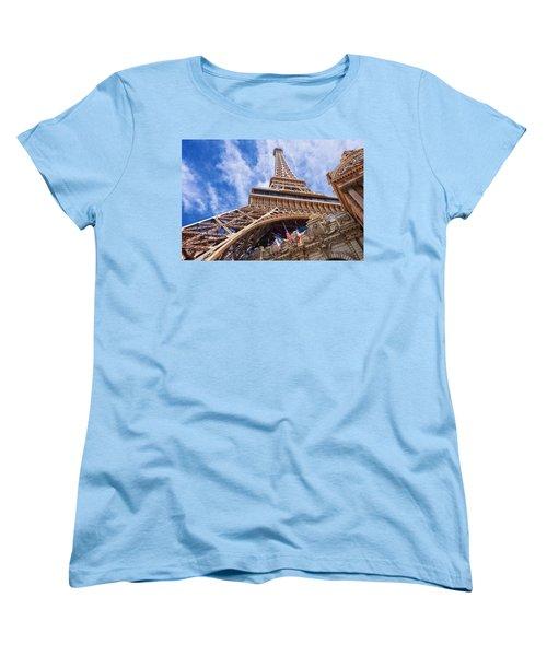 Women's T-Shirt (Standard Cut) featuring the photograph Eiffel Tower Las Vegas  by Ricardo J Ruiz de Porras