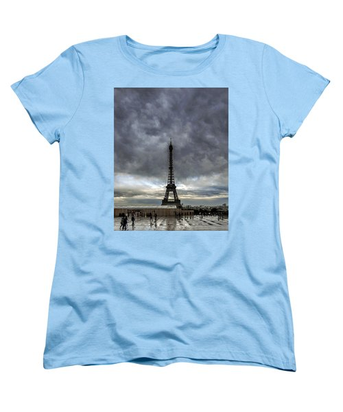 Eiffel Tower Paris Women's T-Shirt (Standard Cut) by Sally Ross