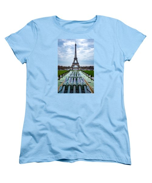 Eiffeltower From Trocadero Garden Women's T-Shirt (Standard Cut) by Rainer Kersten