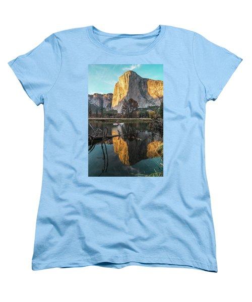 El Capitan Sunset Women's T-Shirt (Standard Cut) by Alpha Wanderlust