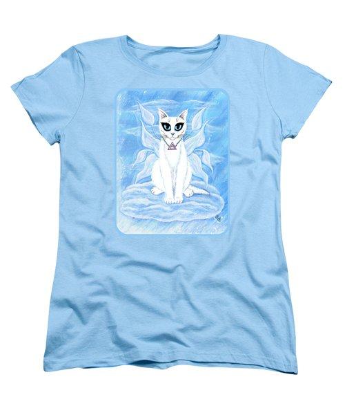 Elemental Air Fairy Cat Women's T-Shirt (Standard Cut) by Carrie Hawks