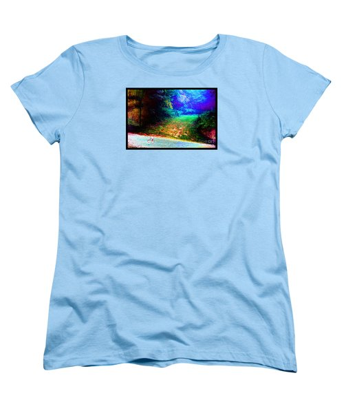 Women's T-Shirt (Standard Cut) featuring the photograph Eleven Dimensions East by Susanne Still