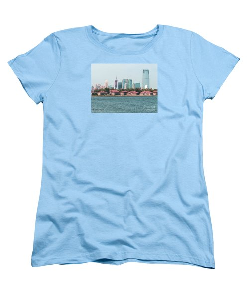Ellis Island And Nyc Women's T-Shirt (Standard Cut) by Denise Tomasura
