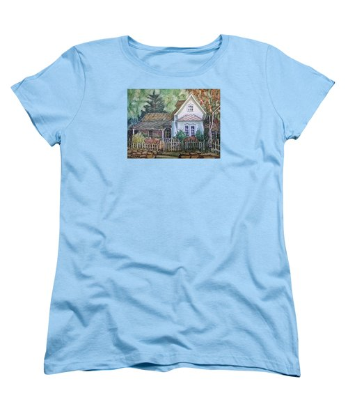 Women's T-Shirt (Standard Cut) featuring the painting Elma's Home by Gretchen Allen
