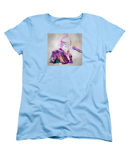 Elton John Women's T-Shirt (Standard Cut) by Dan Sproul