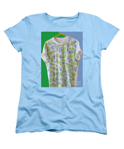 Women's T-Shirt (Standard Cut) featuring the painting Emblematic Sierra Leone Tee Shirt by Mudiama Kammoh
