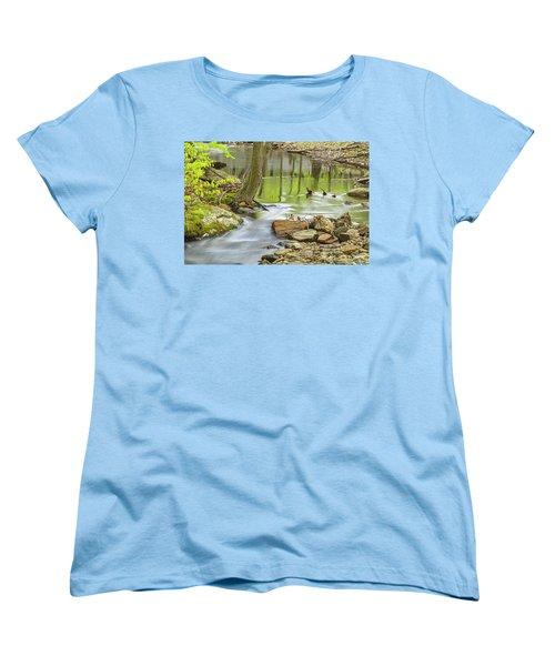 Emerald Liquid Glass Women's T-Shirt (Standard Cut) by Angelo Marcialis