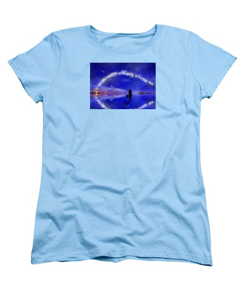 Women's T-Shirt (Standard Cut) featuring the digital art Emily's Journey Part 1 by Bernd Hau