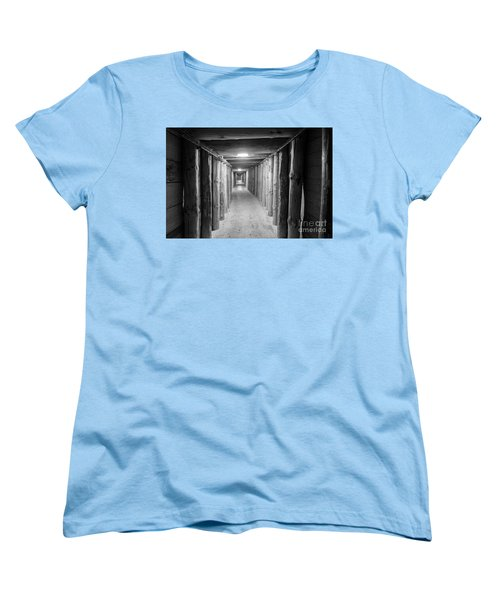 Women's T-Shirt (Standard Cut) featuring the photograph Empty Corridor by Juli Scalzi