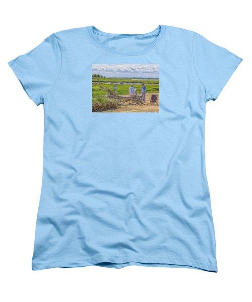 Women's T-Shirt (Standard Cut) featuring the photograph En Plein Air  Cape Cod by Constantine Gregory
