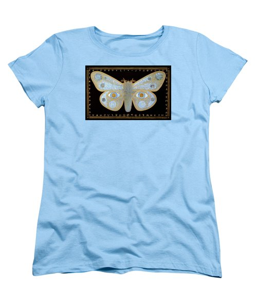 Women's T-Shirt (Standard Cut) featuring the painting Encryption by Laurie Stewart