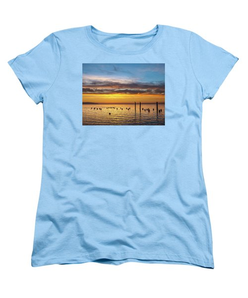 End Of The Day On Humboldt Bay Women's T-Shirt (Standard Cut) by Greg Nyquist