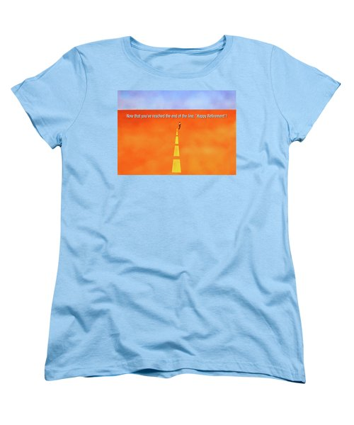 End Of The Line Greeting Card Women's T-Shirt (Standard Cut) by Thomas Blood