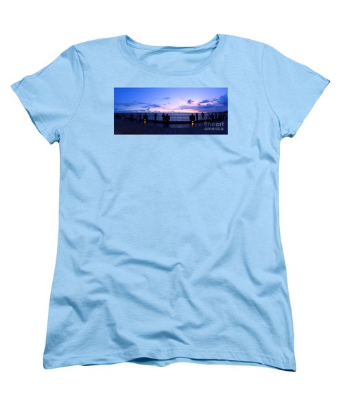 Women's T-Shirt (Standard Cut) featuring the photograph Enjoying The Beautiful Evening Sky by Yali Shi