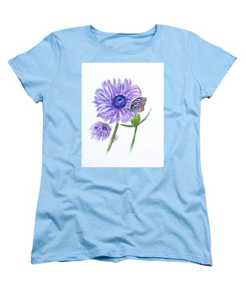 Erika's Butterfly Three Women's T-Shirt (Standard Cut) by Clyde J Kell