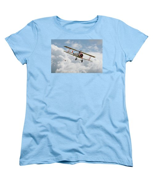 Women's T-Shirt (Standard Cut) featuring the photograph Escadrille Lafayette - Hunters by Pat Speirs
