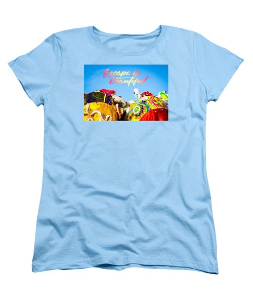 Women's T-Shirt (Standard Cut) featuring the photograph Escape by Bobby Villapando
