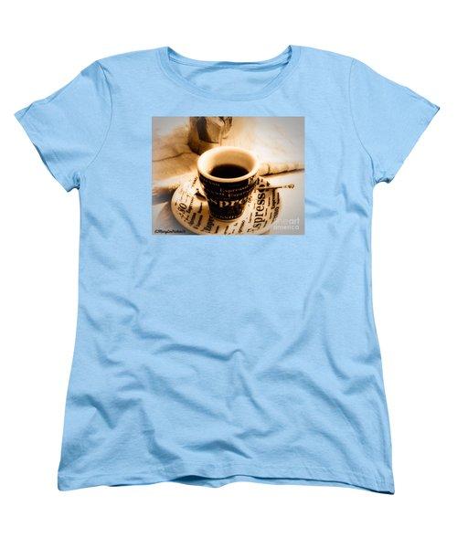 Espresso Anyone Women's T-Shirt (Standard Cut) by MaryLee Parker