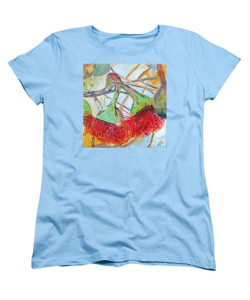 Women's T-Shirt (Standard Cut) featuring the painting Eucalyptus Flowers by Reina Resto