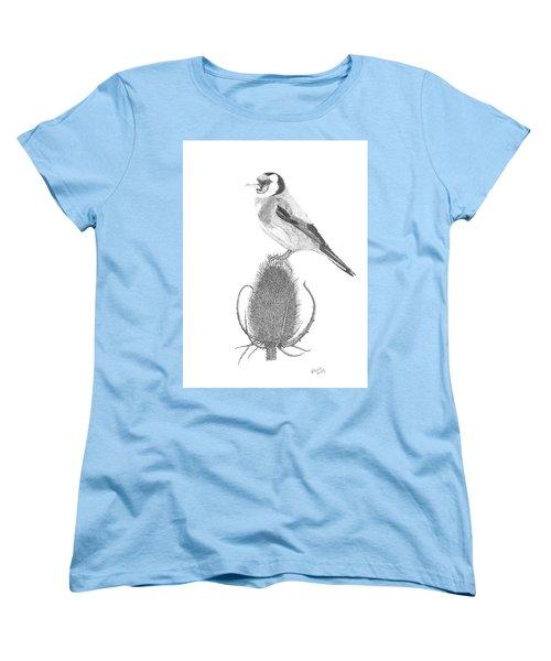European Goldfinch Women's T-Shirt (Standard Cut) by Patricia Hiltz
