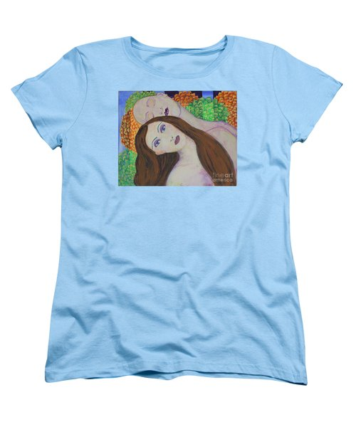 Women's T-Shirt (Standard Cut) featuring the painting Eve Emerges by Kim Nelson