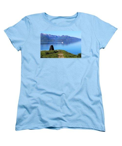 Evenes, Fjord In The North Of Norway Women's T-Shirt (Standard Cut) by Tamara Sushko