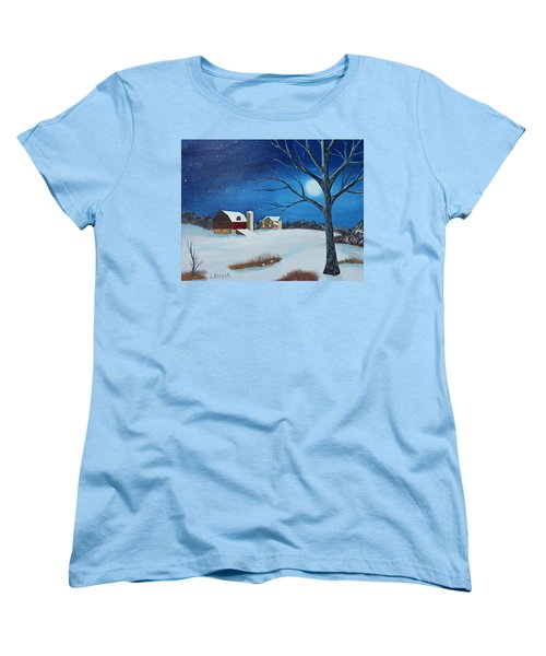 Women's T-Shirt (Standard Cut) featuring the painting Evening Chores by Jack G Brauer